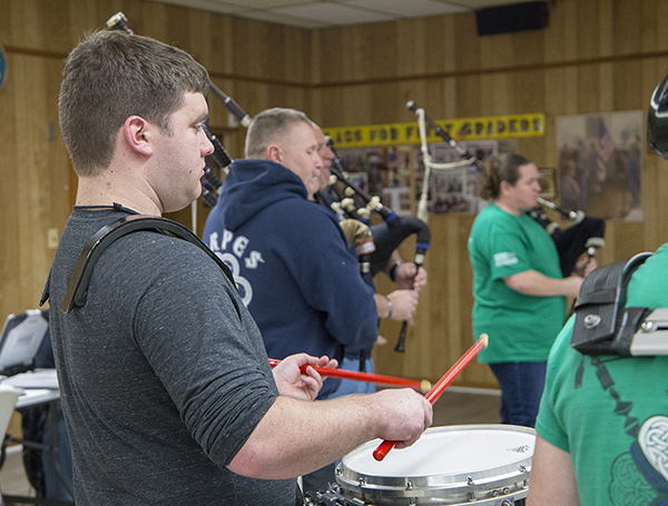 Michael Sweeney at Pipes and Drums practice