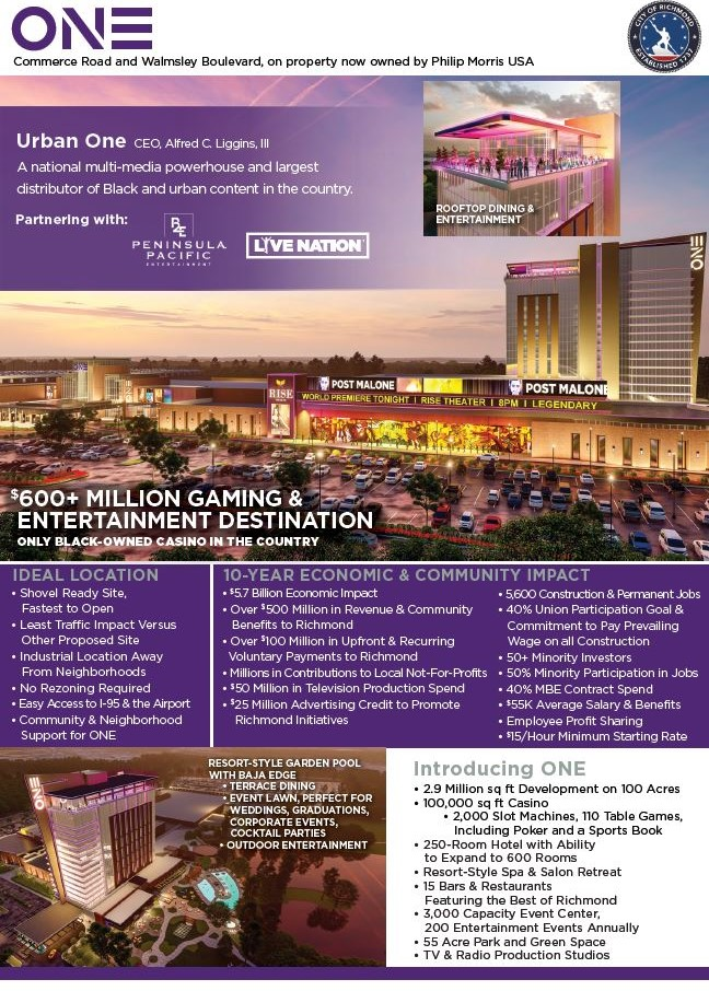 One Casino + Resort One pager
