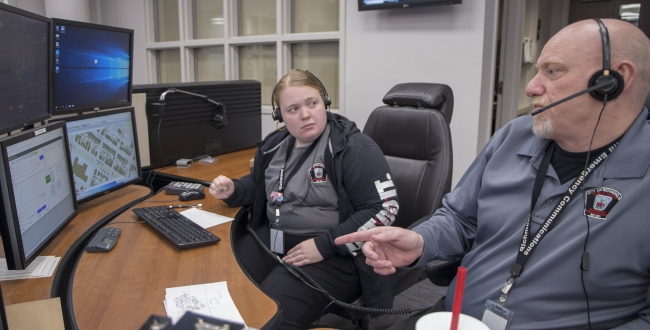 Student learns 911 call-taking